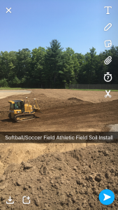 Softball/soccer athletic field soil installation