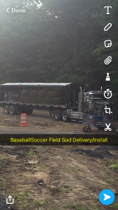 Baseball/soccer field sod delivery