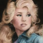 Student painting of singer Dolly Parton