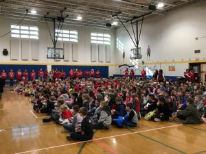 Assembly fills the gym