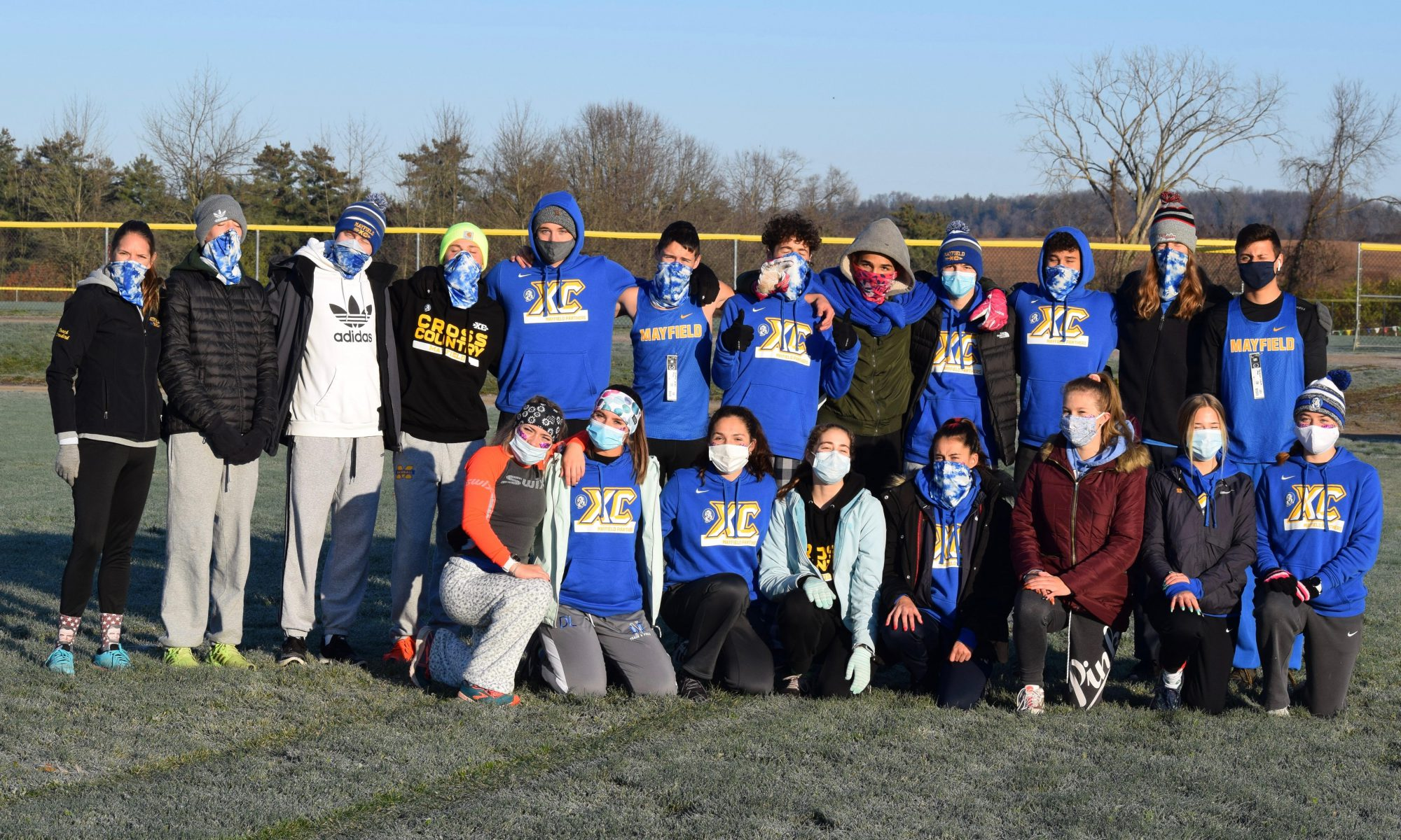 Group photo of Mayfield cross country team