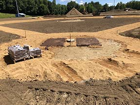Baseball diamond construction