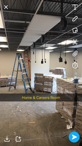 The high school home and careers classrooms gets a facelift