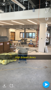 High school library construction continues