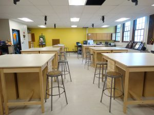 Renovated Jr./Sr. High School art room.