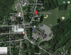 Google map showing location of Mayfield Jr./Sr. High School